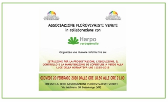 WORKSHOP  Verde Pensile  -  Bussolengo (VR) 20 febbraio 2020