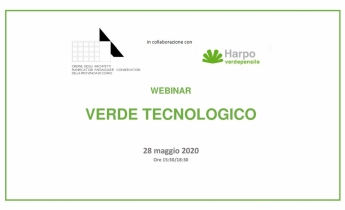Webinar VERDE TECNOLOGICO - 28 maggio 2020 - ore 15:30/18:30