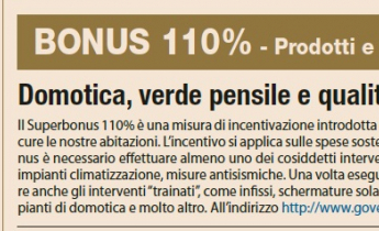 BONUS 110% - Domotica, verde pensile e qualità costruttiva per case d'eccellenza