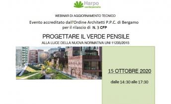 Webinar PROGETTARE IL VERDE PENSILE - 2 ottobre 2020 - ore 14:30/17:30