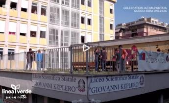 Il tetto verde Harpo del Liceo Keplero di Roma su Linea Verde