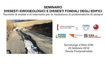 Seminario Cuneo | Harpo spa | seic geotecnica